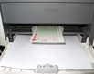 Sample cheque portrait placement for laser printer
